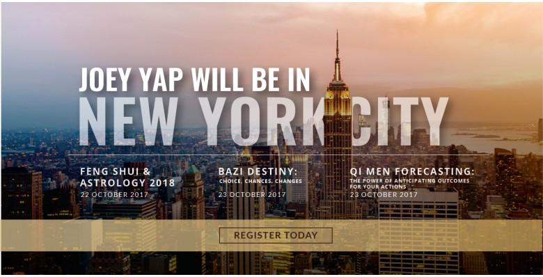 Joey Yap's Feng Shui & Astrology 2018, New York