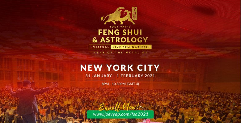 Joey Yap's Feng Shui & Astrology Virtual Live Seminar 2021
