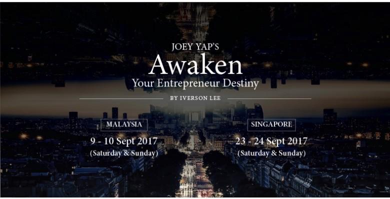 Joey Yap's Awaken Your Entrepreneur Destiny
